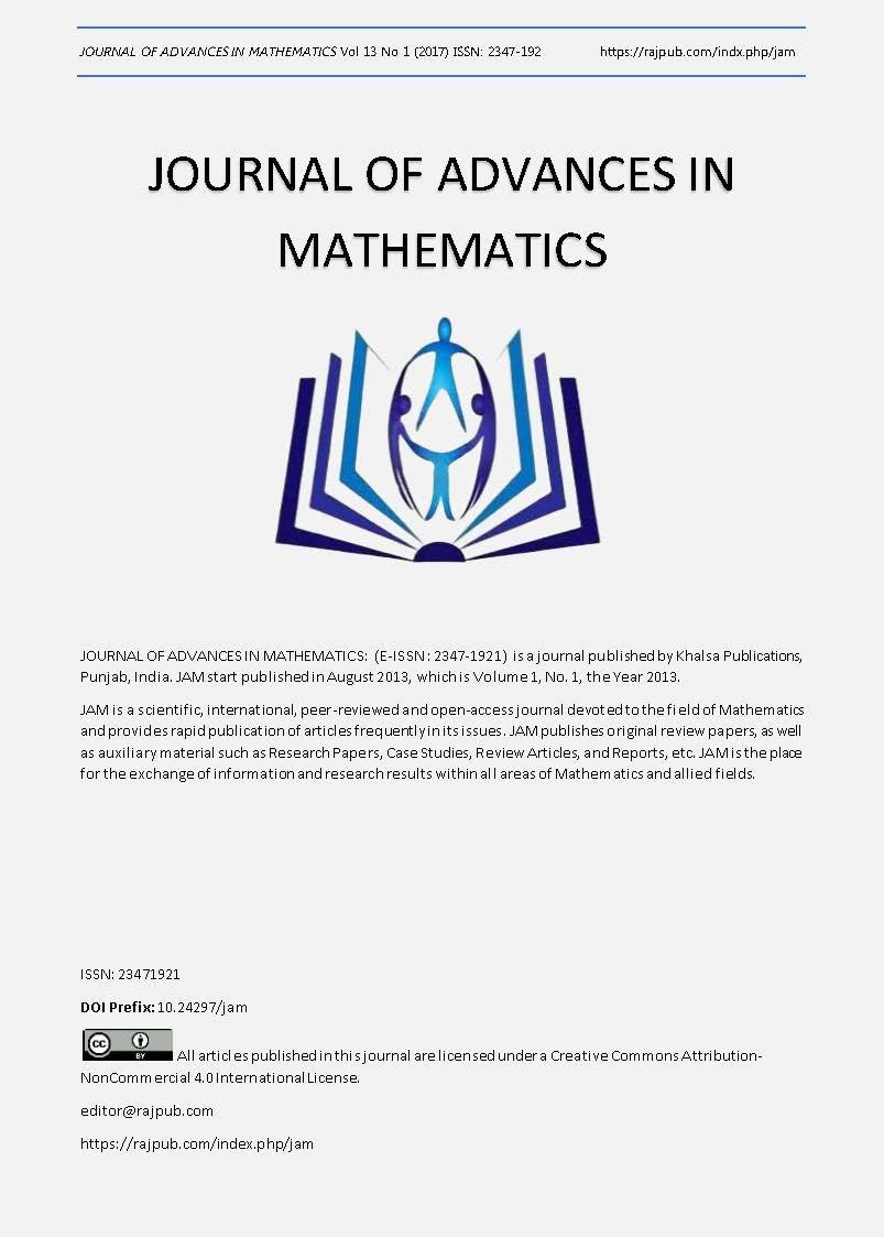 JOURNAL OF ADVANCES IN MATHEMATICS